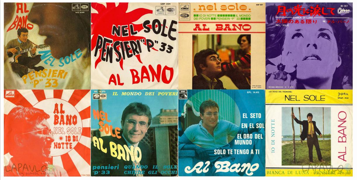 Single Nel Sole - Włochy, Belgia, Portugalia, Japonia, Holandia, Hiszpania x2, Jugosławia - Al Bano
