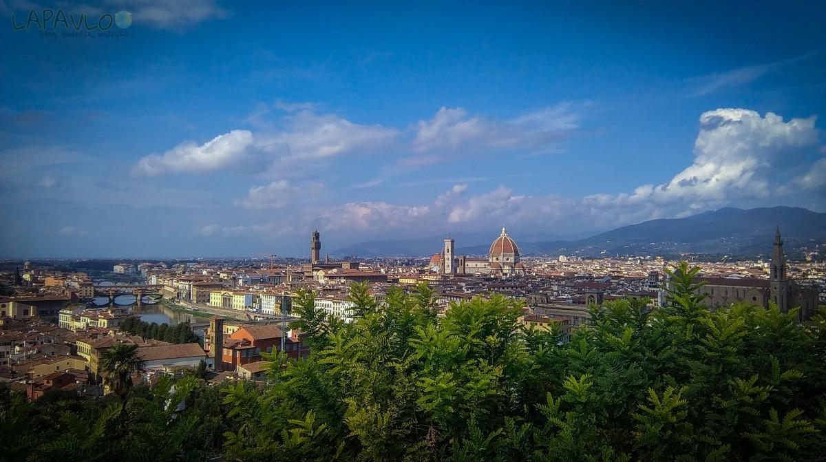 Panorama Florencji z Placu Michała Anioła