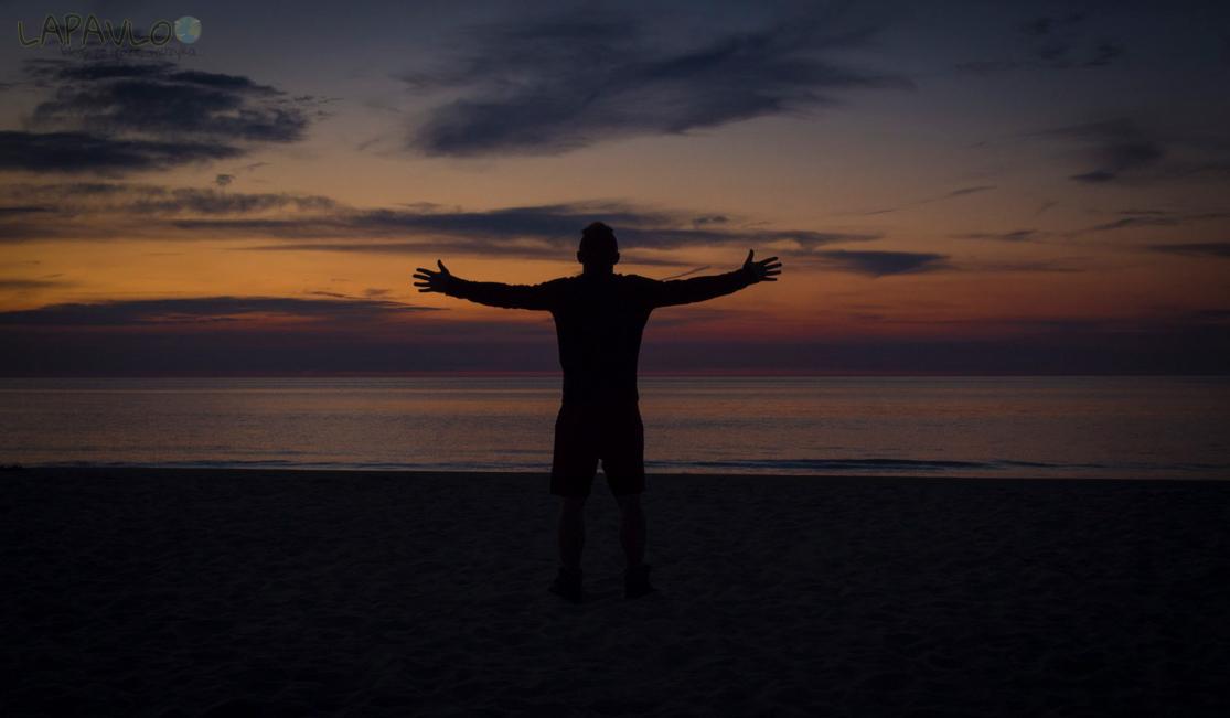 Zachód słońca - Bałtyk