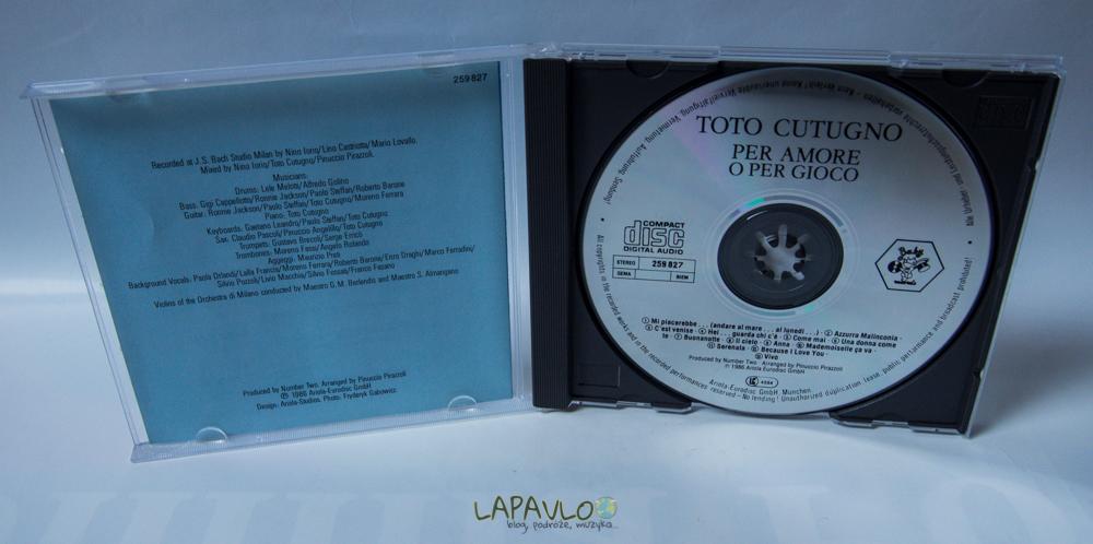 Toto Cutugno - Per Amore O Per Gioco - CD Album