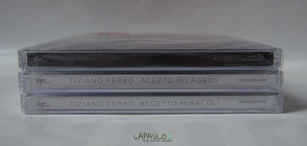 Tiziano Ferro - Accetto Miracoli / Acepto Milagros / L'Esperienza Degli Altri - CD Album Recenzja