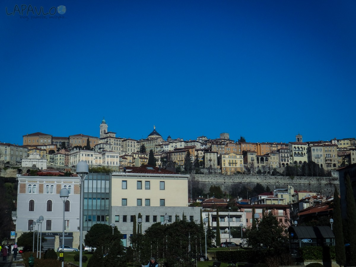 Widok na Città Alta - Bergamo