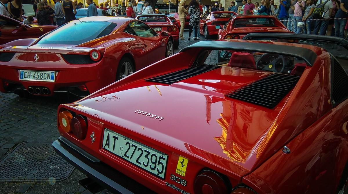 Pokaz Ferrari - Rzym
