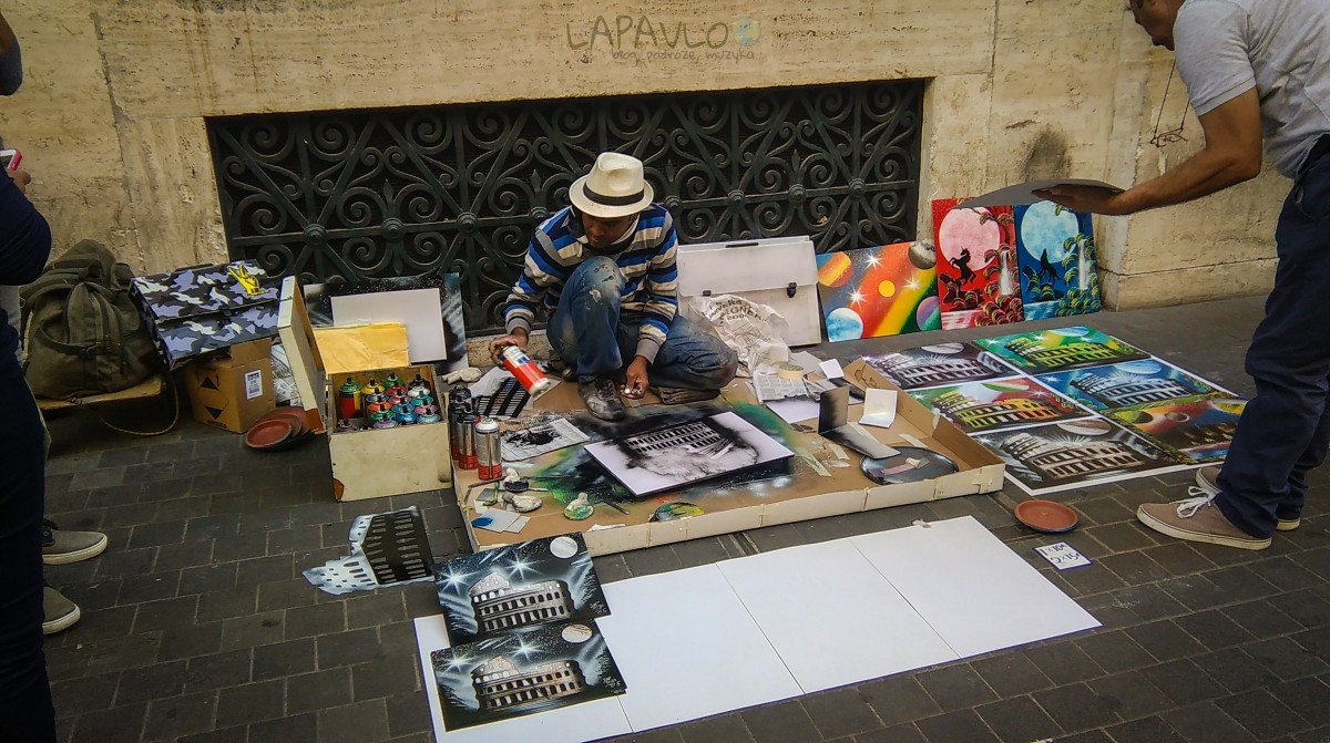 Uliczny artysta - Rzym
