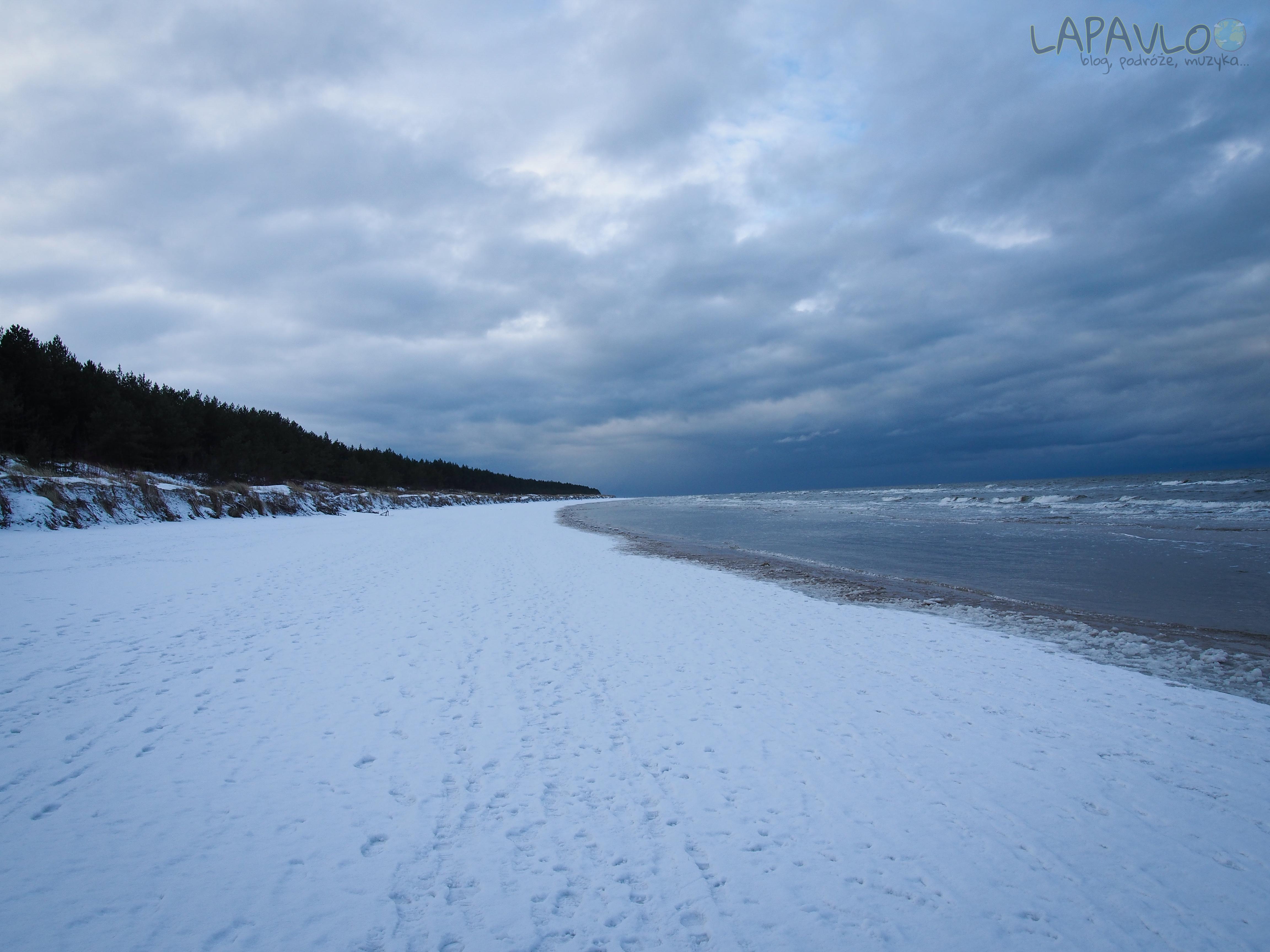 Zimą nad morzem