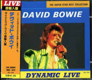 David Bowie - Dynamic Live - Australia - Japan CD OBI - Unofficial