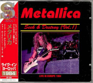 Metallica - Seek & Destroy Vol.1 - Japan CD OBI - Unofficial
